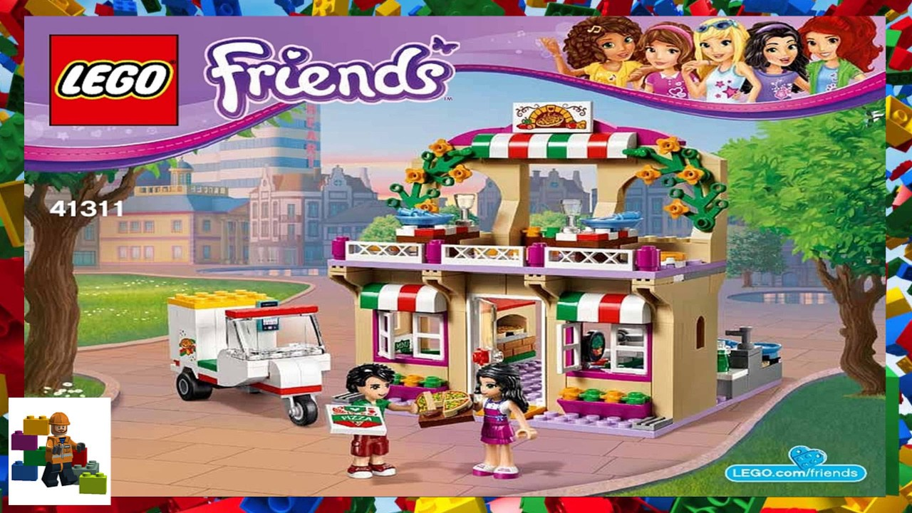 Lego Instructions Friends 41311 Heartlake Pizzeria Youtube