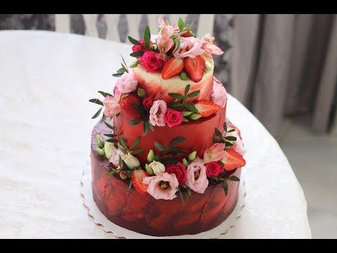 ✧Собрать трехъярусный торт ✧ Украсить торт ✧