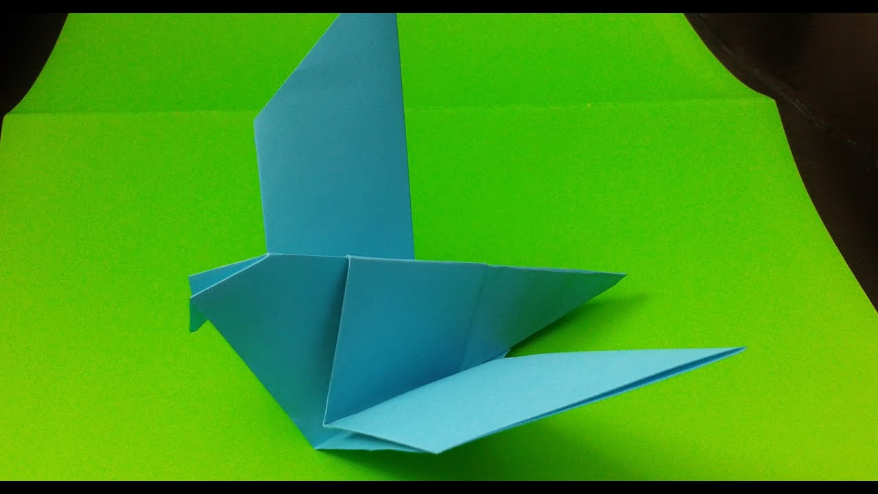 How To Make An Easy Origami Bird Youtube