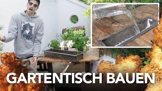Gartenmöbel bauen |Tisch / Bank selber bauen - Heimwerkerking Fynn Kliemann