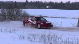 Rally Aluksne 2016 Actions,Mistakes,Snow