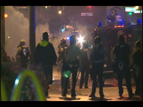 Ferguson, Missouri Protesters Stay Out Past Government CURFEW!!