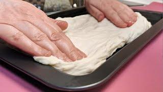 СМЕШАЙТЕ ВОДУ С МУКОЙ вы будете восторге от результата Хлеб ФОКАЧЧА как в пекарне просто и вкусно