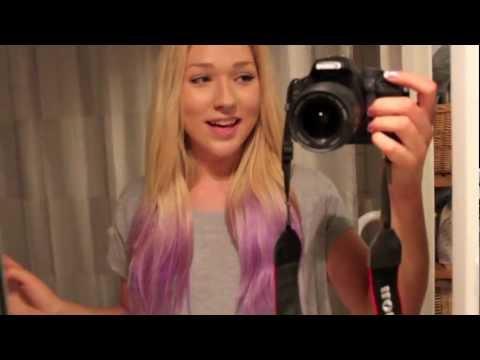 purple dip dyed hair