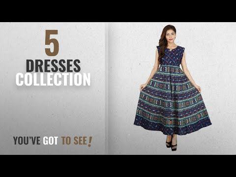 Top 10 Dresses Collection [2018]: RAJASTHANI COLLECTIONS Women's Long Dress Jaipuri Animal Print