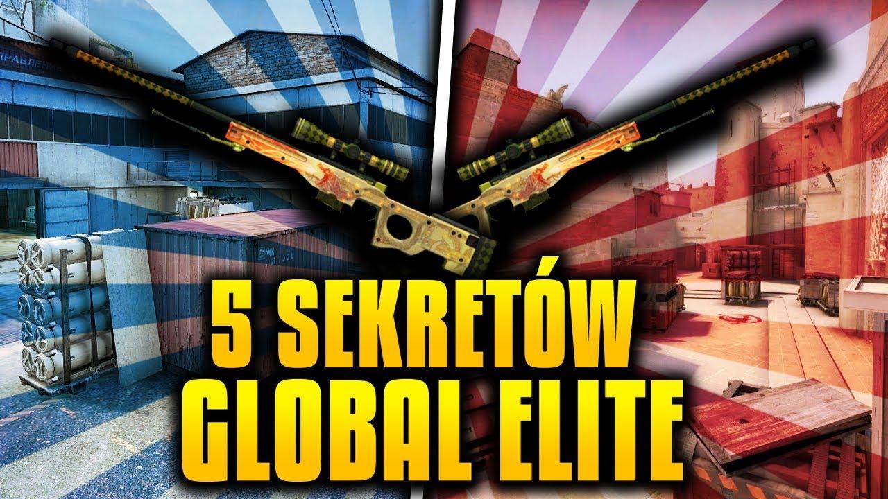 5 SEKRETÓW GLOBAL ELITE W CS GO !!!