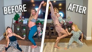 LaBrant Family Baby Mama Dance With Baby Posie!!! (Before And After)