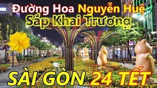 Sài Gòn Ngày Đêm Chuẩn Bị Đường Hoa Nguyễn Huệ | Địa Điểm Chơi Tết 2020