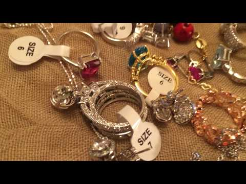 Jewelry mystery lot unboxed Plus my new Jewelry box of rings collection