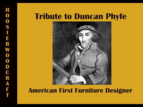 Duncan Phyfe, creator of Federal Style Furniture