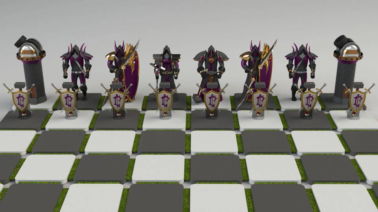 Tv Board Industrial Warcraft Chess Set - Youtube