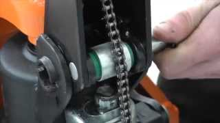 LoadSurfer Pallet Truck how to fit the operating handle.