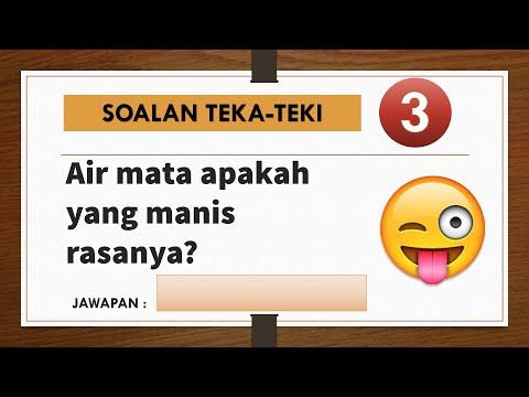 Teka Teki Lucu Lawak Rakyat Malaysia Part 1 Gembira Edutv 2020 Youtube