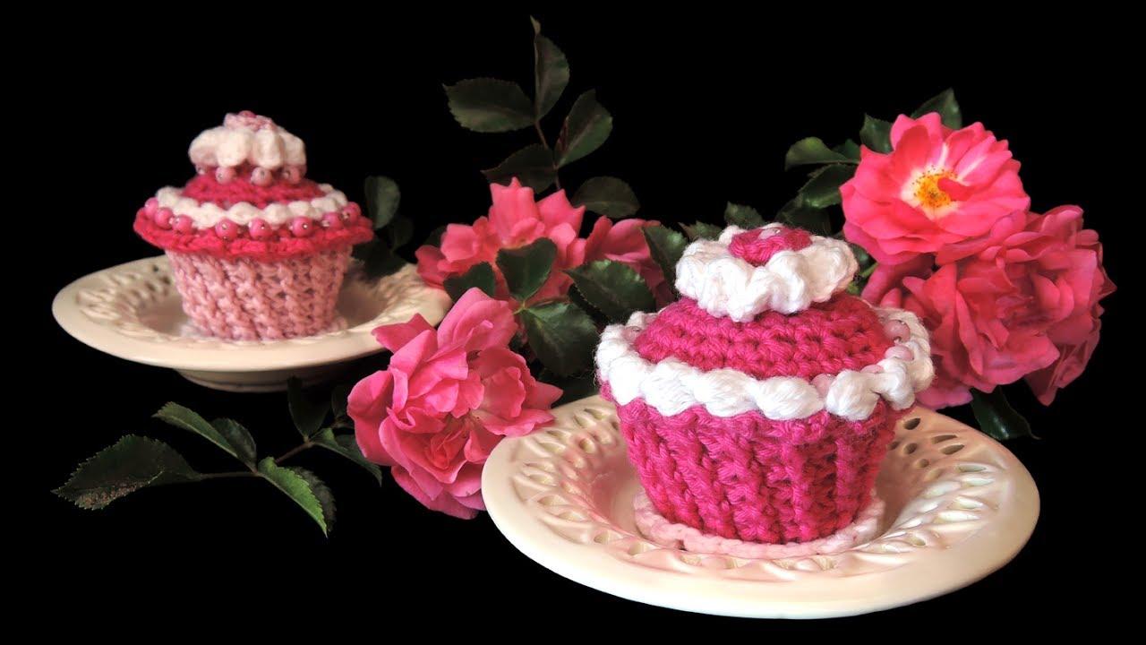 Pink Törtchen Muffins für Zwillinge HÄKELN CROCHET - YouTube