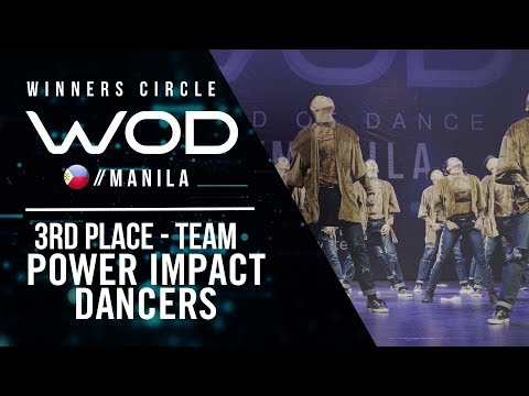 Power Impact Dancers | 3rd Place Team | Winners Circle | World of Dance Manila Qualifier 2018