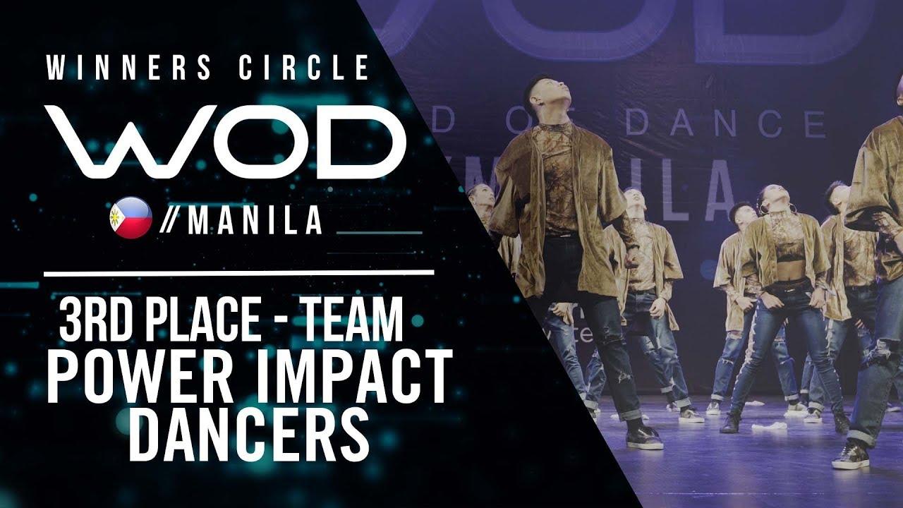 Power Impact Dancers | 3rd Place Team | Winners Circle | World of Dance Manila Qualifier 2018