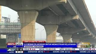 Uji Beban Jalan Tol Layang Japek Menggunakan 16 Truk