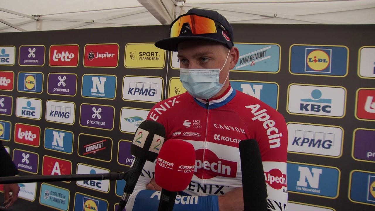 mathieu van der poel post race interview tour of flanders ronde van vlaanderen 2020