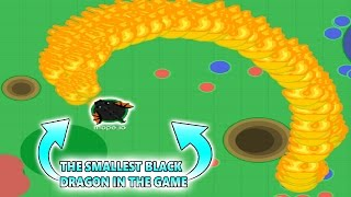 MOPE.IO THE SMALLEST BLACK DRAGON IN THE GAME FIRE GLITCH! (Mope.io)