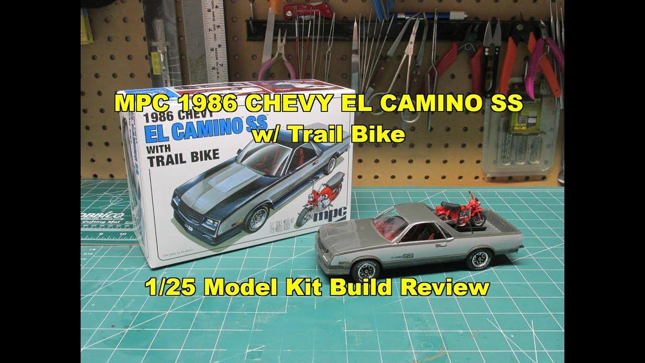 MPC 1986 CHEVY EL CAMINO SS w/TRAIL BIKE 1/25 MODEL KIT ...