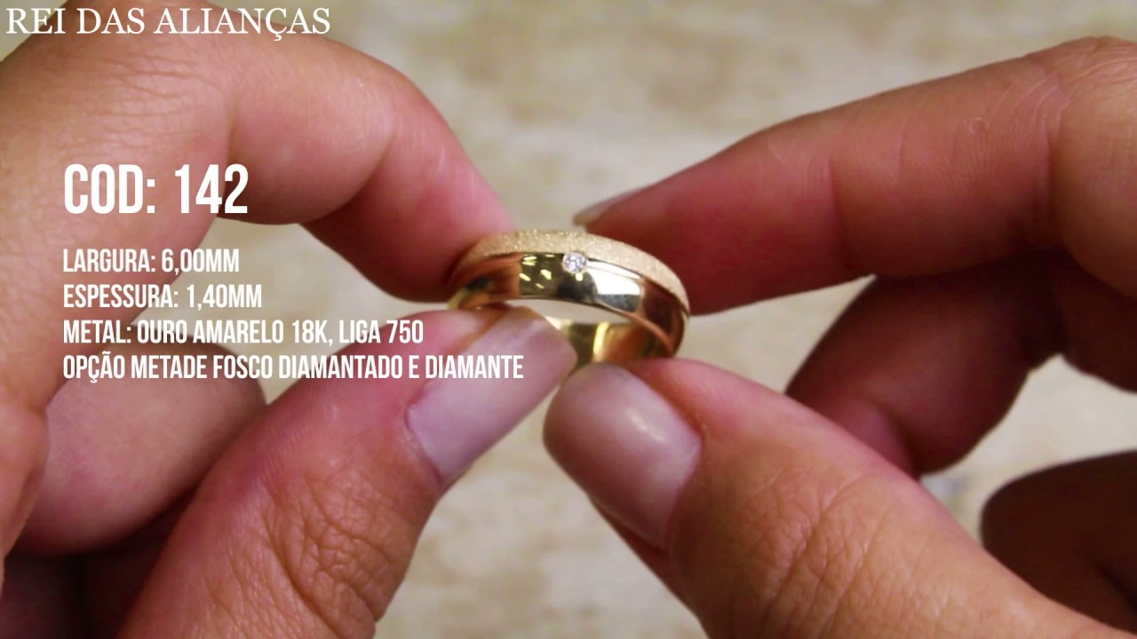 Alianças de Casamento Noivado Pernambuco Cód. 142 - YouTube e693614a05