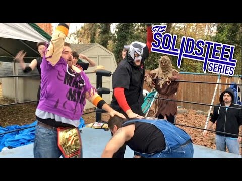 CRAZIEST SURVIVOR SERIES BACKYARD WRESTLING MATCH EVER! YOUTUBE HACKER PUT THROUGH A TABLE!