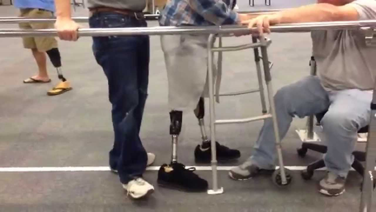 how to put on a prosthetic leg