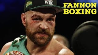 (FIGHT REACTION) TYSON FURY BARELY SURVIVES OTTO WALLIN...CUT AND ALMOST STOPPED BY C-LEVEL FIGHTER