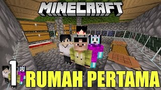 BASECAMP PERTAMA! ft. 4Brothers | Minecraft Adventure Indonesia #1