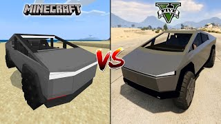 MINECRAFT CYBERTRUCK VS GTA 5 CYBERTRUCK - WHICH IS BEST?