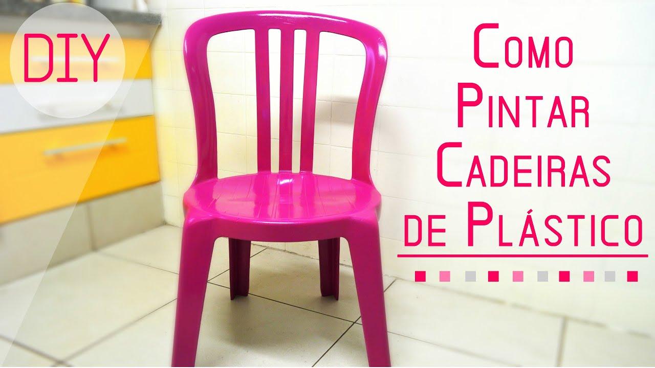Como pintar cadeiras de pl stico youtube - Como pintar botellas de plastico ...