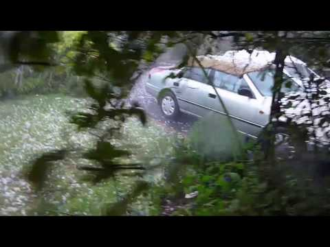 Hail Storm! RAW video footage!