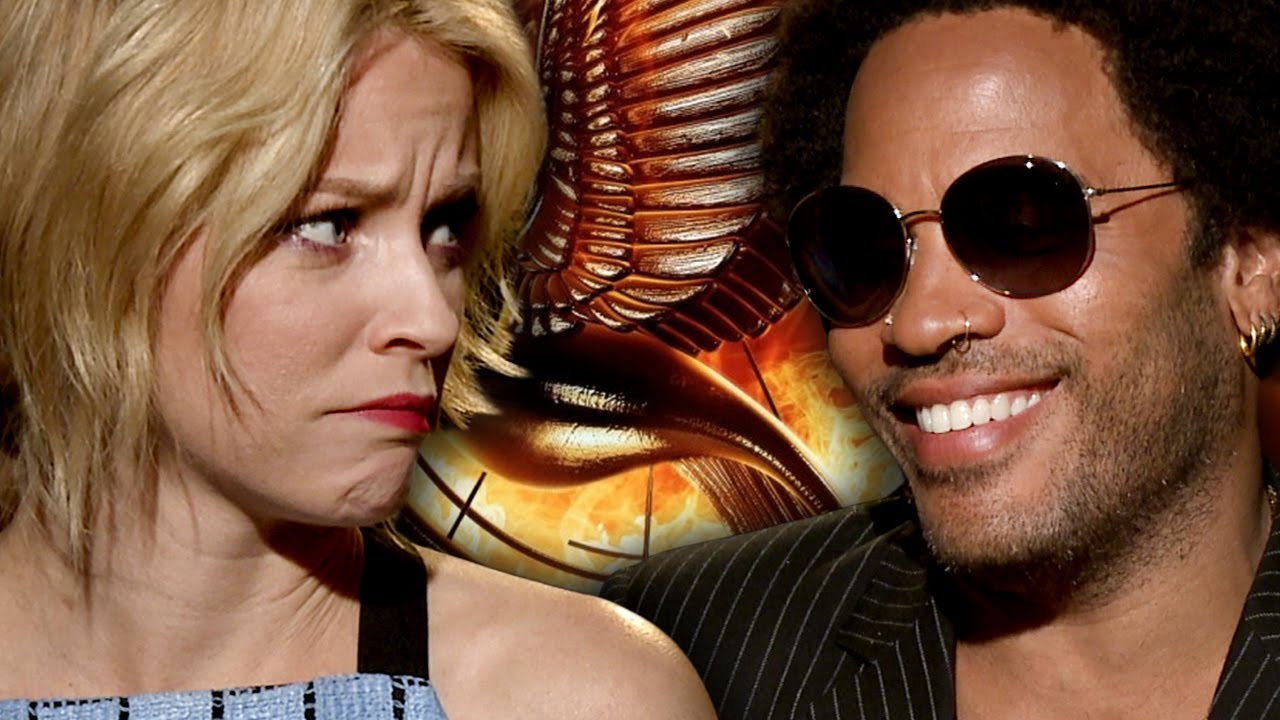 Elizabeth Banks & Lenny Kravitz Talk Catching Fire & Harry Styles VS Liam