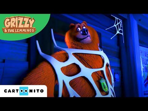 Grizzy i lemingi | Świętowanie Halloween | Boomerang