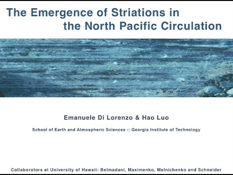 The emergence of striations in the North Pacific Circulation