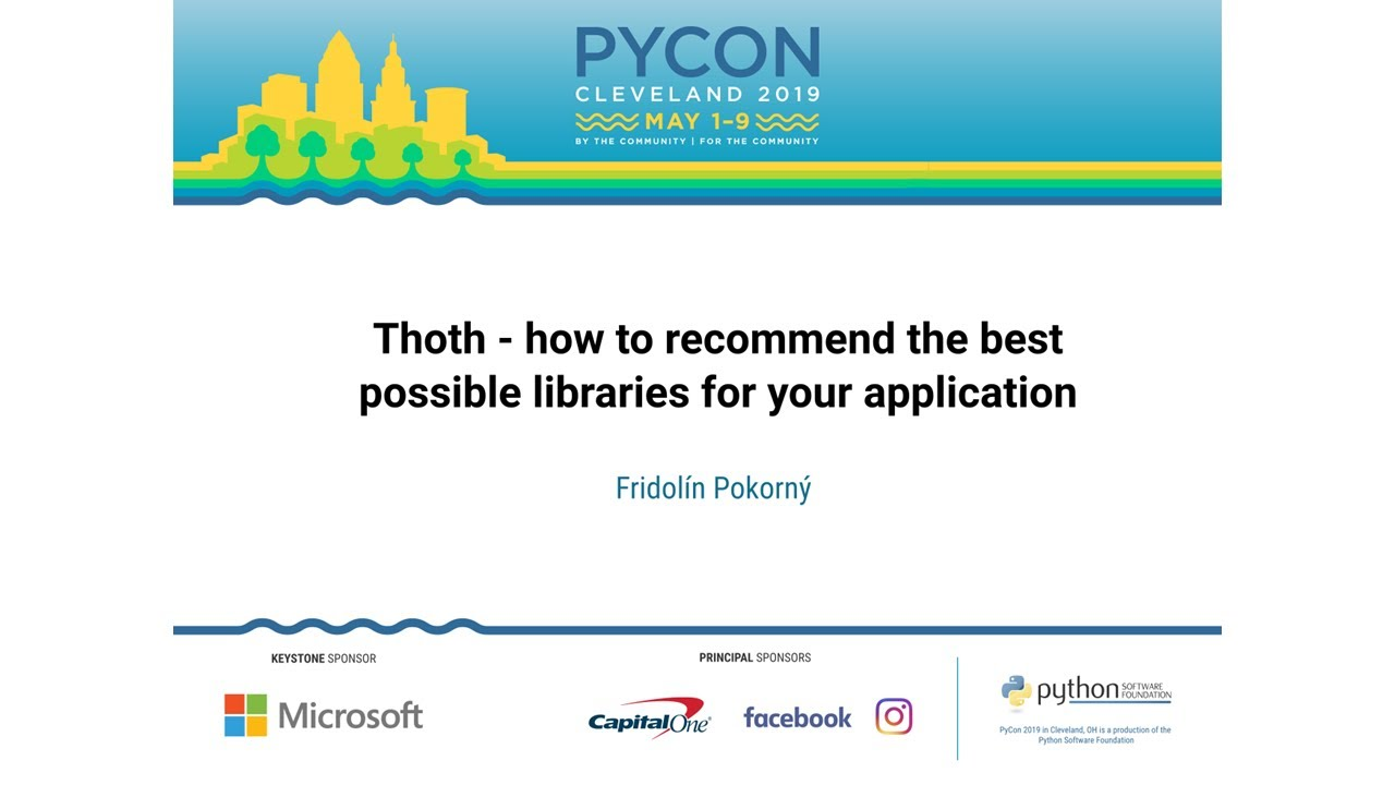 Image from Thoth - how to recommend the best possible libraries for your application