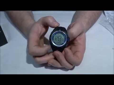 Часы для подводного плавания с глубиномером сарган вектор 100м