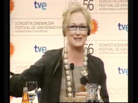 Meryl Streep Conferencia de prensa Donostia part 5/6, subt en español