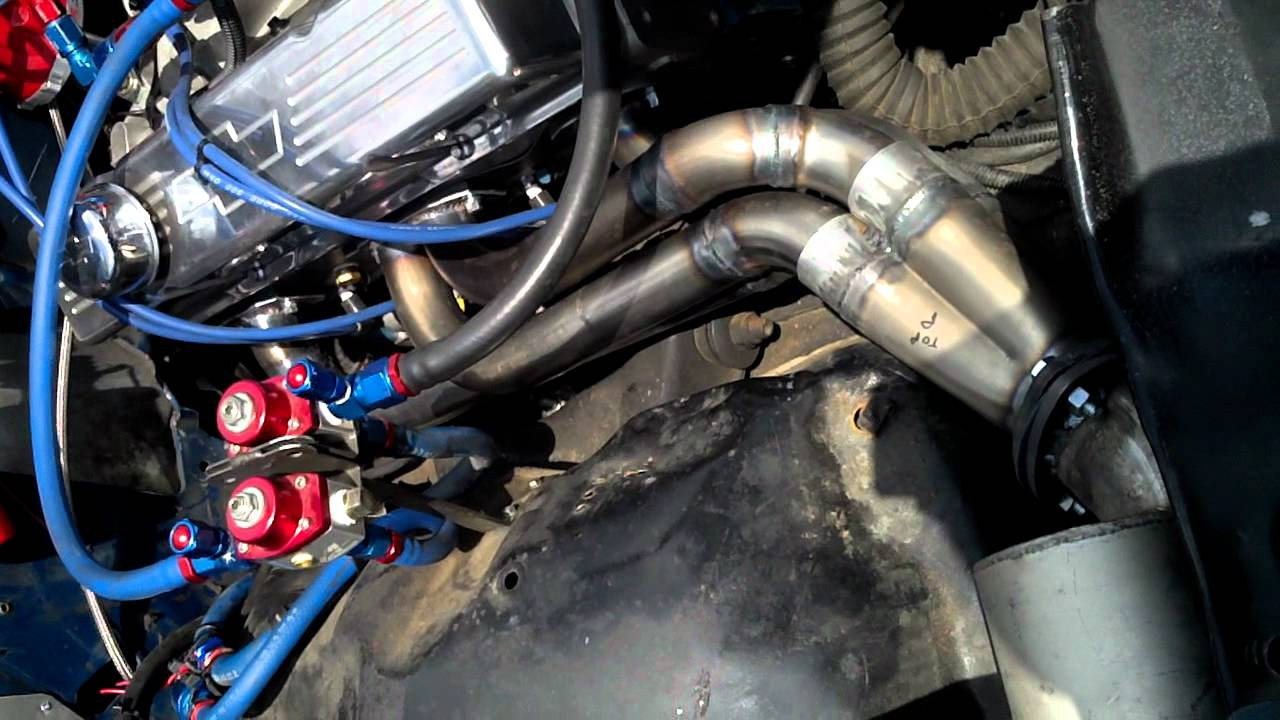 Ashley S New Front Exit Headers With Mufflers Youtube
