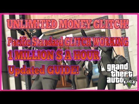 GTA 5 Online UNLIMITED Money Glitch! The Pacific Standard GLITCH! WORKING! HOW TO DO IT!