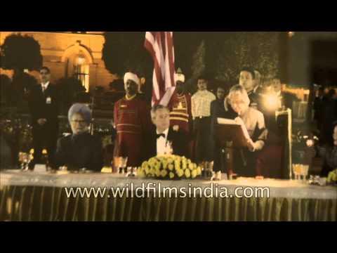 Dr. A.P.J. Abdul Kalam with George W. Bush and Dr. Manmohan Singh
