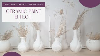 DIY TRASH TO TERRACOTTA | how to paint with baking soda | and create the ceramic paint effect.