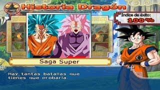 Dragon Ball Z Budokai Tenkaichi 4 - Modo historia Saga AF MODS Goku SSJ Blue 3  vs Black Goku SSJ 3