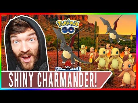 COMMUNITY DAY SHINY HUNTING! Pokemon GO Shiny Charmander Event + Shiny Charizard Evolution!