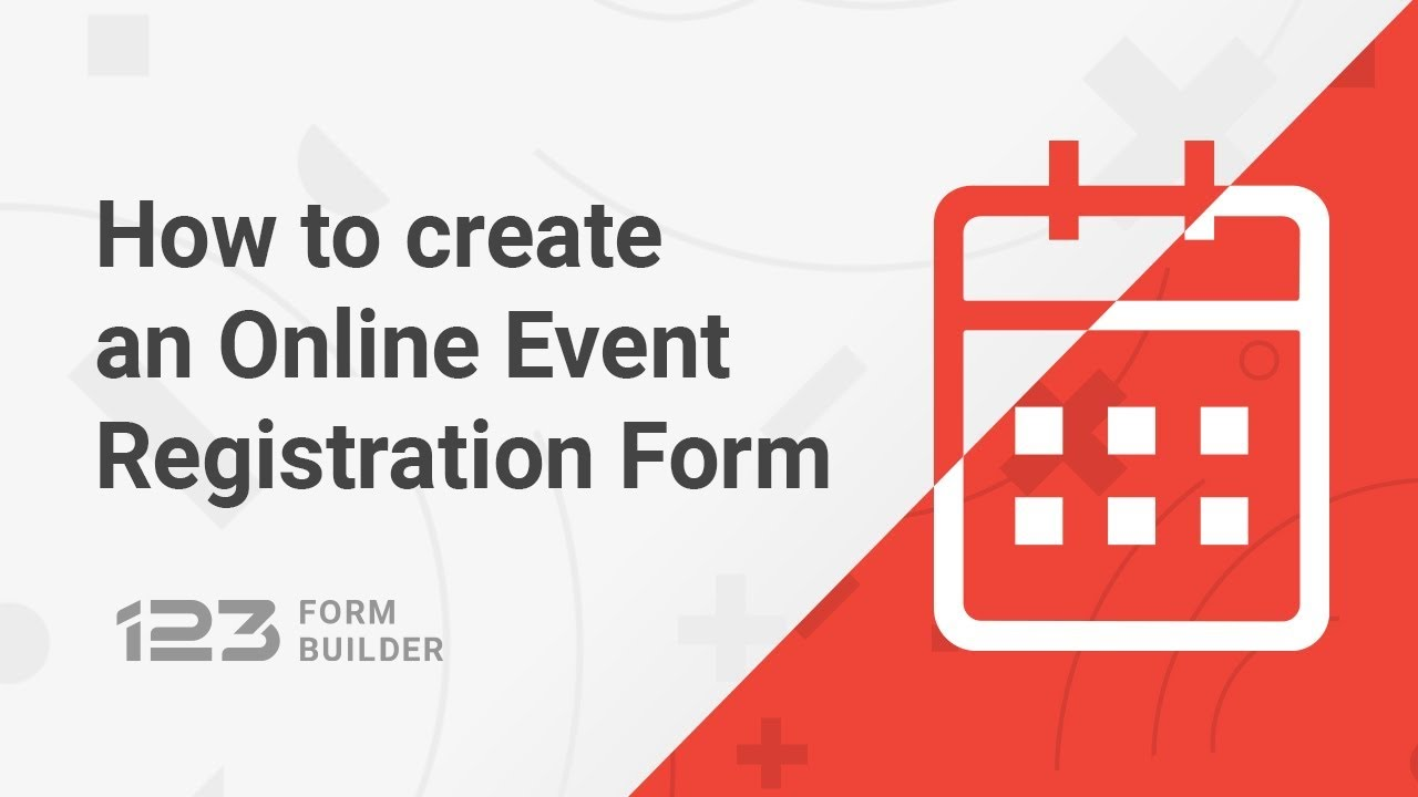 How to create an Online Event Registration Form - YouTube