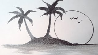 How To Draw A Tropical Island