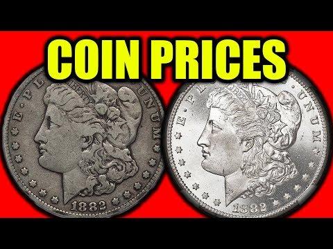 SILVER MORGAN DOLLAR COIN PRICES!! 1882 SILVER DOLLAR COIN VALUES