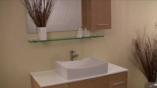 Fresca Distante Natural Wood Modern Bathroom Vanity W/ Cultured Marble Countertop - Fvn6123nw