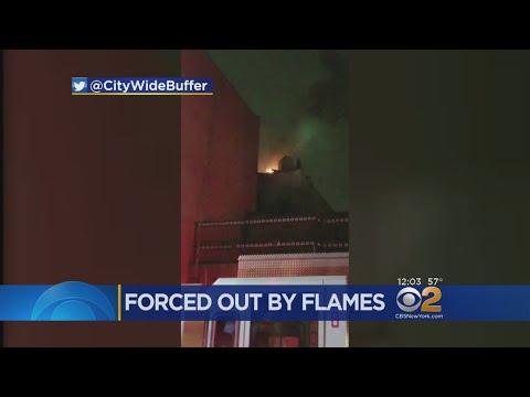 Fire Damages Building In Borough Park