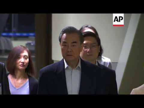 China FM Wang arrives for ASEAN meeting